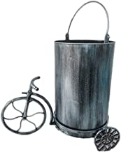 Trash can Industrial Wind Trash Can Recycling Bin Wrought Iron Bicycle Decoration Bar Restaurant Office Living Room Waste ...