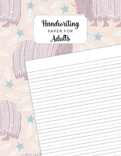 Handwriting Paper for Adults: Writing paper with dotted line