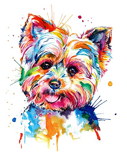 Hrank 5D Diamond Painting Kits for Adults and Kids, Full Drill Rhinestone Diamond Arts Craft for Home Wall Decor Lovely Dog 35x45cm(14X18 / in)