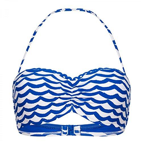 Seafolly Damen Tidal Wave Bustier Bandeau Bikini Top Badeanzug - Blau - 40