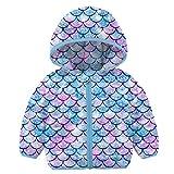 Kids4ever Baby Mädchen Junge JackeNeuheit 3D Buntes Flamingo Design Mäntel Leicht HoodedJacket Winddichte Dicke Outdoorjacken Für 6-12 Monat