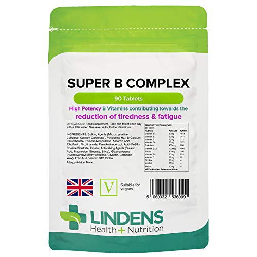 Lindens - Super Vitamin B-Komplex (NEU) Tablet - 90 Pack