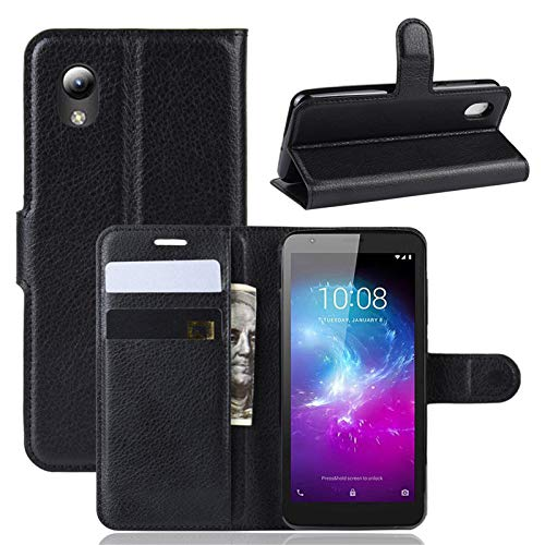 betterfon | ZTE Blade L8 Hülle Handy Tasche Handyhülle Etui Wallet Case Schutzhülle mit Magnetverschluss/Kartenfächer für ZTE Blade L8 Schwarz