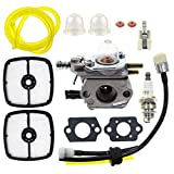 MOTOALL Carburetor with Tune Up Air Filter Kit for Echo SRM-2110 GT-2000 PE-2000 PP-800 PPF-2100 PPT-2100 Trimmer Carb