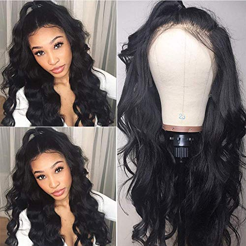 Maxine 360 Lace Frontal Wig Body Wave Brazilian Human Hair Wigs Pre-Plucked Hairline 130% Density Natural Color With Adjustable Straps 360 Lace Wig wi
