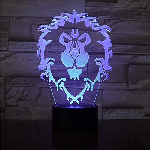 LED-Lampe/LED-Nachtlicht, Allianz World of Warcraft, USB.