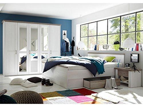 möbelando Schlafzimmer Komplett-Set Schlafzimmerprogramm Schlafzimmermöbel Lebbie I