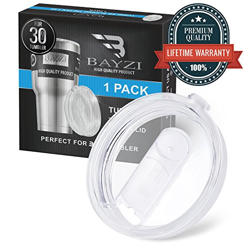 1 Splash Proof 30 OZ YETI Lids, and other tumblers, With Slider Closure, Spill Resistant, by BAYZI
