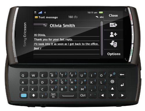Sony Ericsson Vivaz Pro Smartphone (8,1 cm (3,2 Zoll) Touchscreen, QWERTZ-Tastatur, WLAN, 5.1 Megapixel Kamera, GPS, HD-Video 720p) schwarz