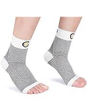 CAMBIVO 2 pary opasek na staw skokowy, bandaż na kostkę, dla mężczyzn i kobiet, skarpety kompresyjne do uprawiania sportu, piłki nożnej, fitnessu