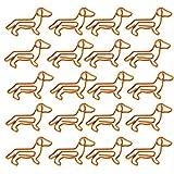 Toddmomy 50 unidades de clips de metal con diseño de perro salchicha, para oficina, escuela, fiesta (naranja)