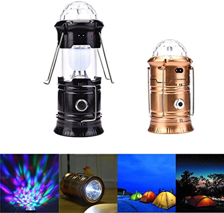 ZHENWOFC 6w 6w 6w 3 in 1 rgb led kristall magische kugel bühne licht tragbare wiederaufladbare camping laterne im freien Innenlicht (Farbe   Gold) B07N5JF3XG    Authentische Garantie  66660d