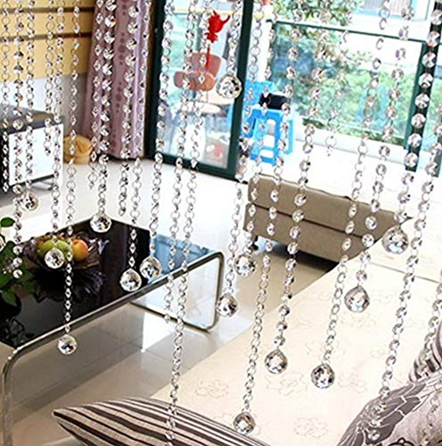 Gatton Hot Sale!DEESEE(TM) Crystal Glass Bead Curtain Luxury Living Room Bedroom Window Door ding Decor   Model WDDNG - 1920   58X43cm