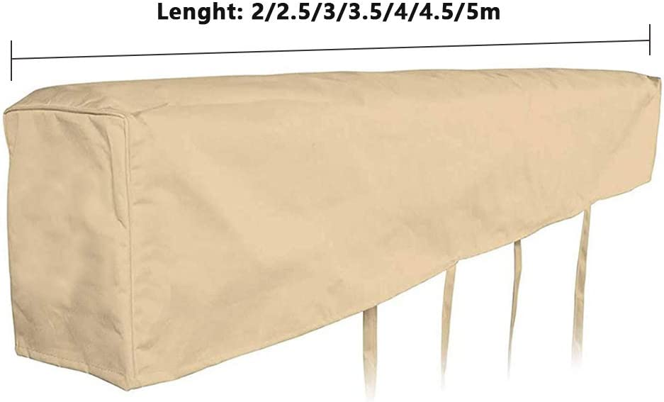JIEPOLLY Protective Cover for 2M Wide Retractable Awnings Beige 420D Heavy Duty Weather Proof Polyester Fabric