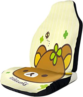 RachelReichert Rilakkuma Cute Car Seat Cover, Car Interior Car Seat Cover for Most Cars, Cars, SUVs, Vans2 PCS