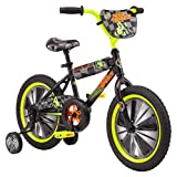 Pacific Race Car Character Kids Bike, 16-Inch Wheels, Ages 3-5 Years, Coaster Brakes, Adjustable Seat, Black, one Size