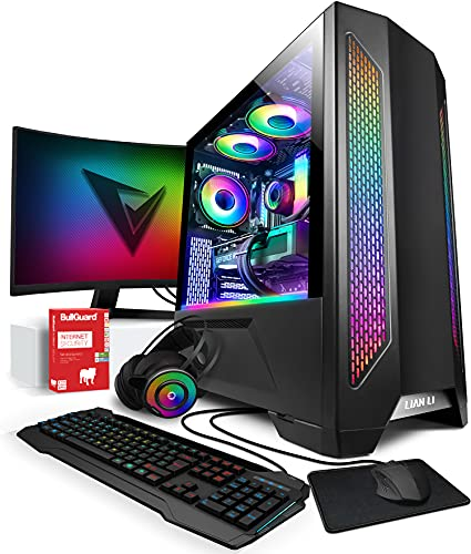 Vibox VI-14 Gaming PC SG-Series - 24' 144Hz Pack Monitor Curvo - 10ª Gen 8-Core Intel i7 Procesador - RTX 3070 8Gb Tarjeta Grafica - 32Gb RAM - 1TB NVMe M.2 SSD - Windows 10 - WiFi