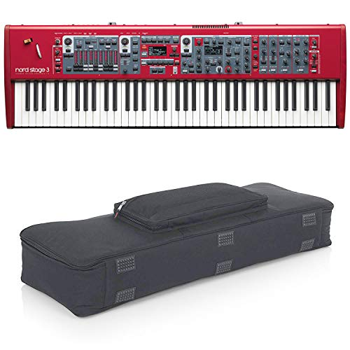 Nord Stage 3 HP76 76-Note, Hammer-Action Portable Keybed (with Gator Cases Padded Keyboard Gig Bag)