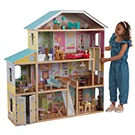 Kidkraft 65252 Majestic Mansion Wooden Dolls House With Furniture And Accessories Included, 4 Storey...