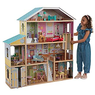 KidKraft 65252 Majestic Mansion Wooden Dolls House with Furniture and Accessories Included, 4 Storey Play Set for 30 cm/12 Inch Dolls (B0042F99PG) | Amazon price tracker / tracking, Amazon price history charts, Amazon price watches, Amazon price drop alerts