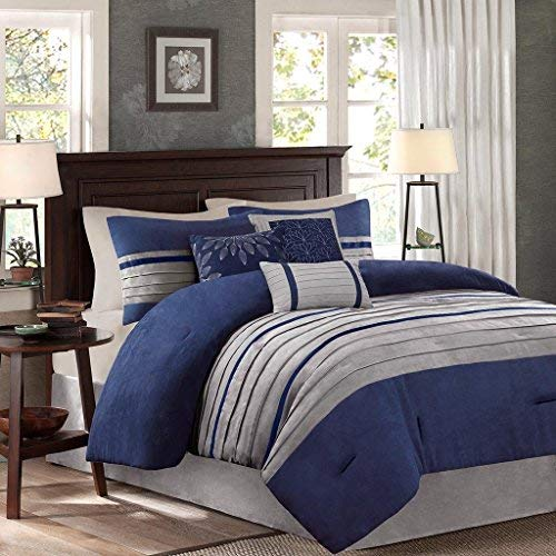 Navy And Gray Comforter For Queen Amazoncom