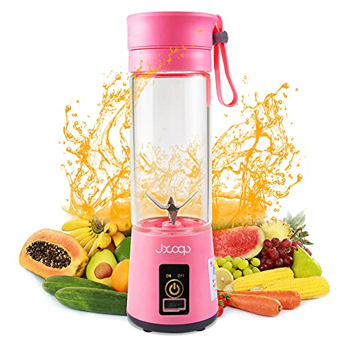 JXCOOP Portable Blender 400ML Personal Size Juicer Cup for Smoothies and Shakes USB...