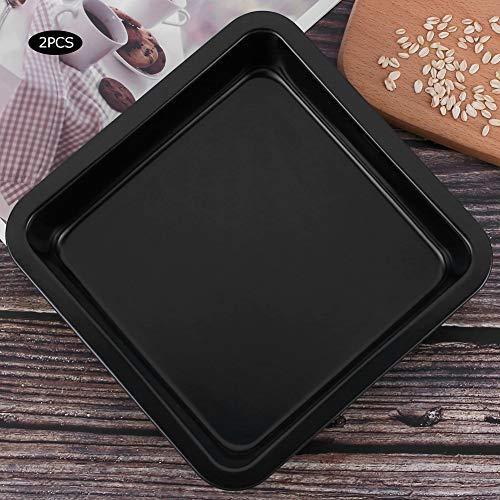 【Cadeau de Noël】 Antiadhésif avec ustensiles de Cuisson à Surface Lisse, Plaque à pâtisserie, gâteaux au Fromage pour Faire des gâteaux à Pizza(Black TG01#A)