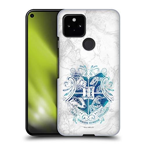 Official Harry Potter Hogwarts Aguamenti Deathly Hallows IX Hard Back Case Compatible for Google Pixel 5