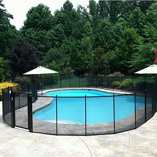 IOKUKI Pool Fence Outdoor,4X12 Foot in-Ground Pool Fence