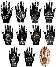 Xmasir Set of 16 Sheets Indian Arabian Henna Tattoo Stencil/Temporary Tattoo Temples Kit,Stencils For Henna New Designs