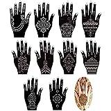 Xmasir Set of 16 Sheets Indian Arabian Henna Tattoo Stencil/Temporary Tattoo Temples Kit,Stencils