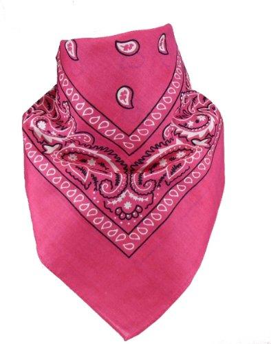 Harrys-Collection Harrys-Collection Unisex Bandana Bindetuch 100% Baumwolle (1 er 6 er oder 12 er Pack), Farbe:pink
