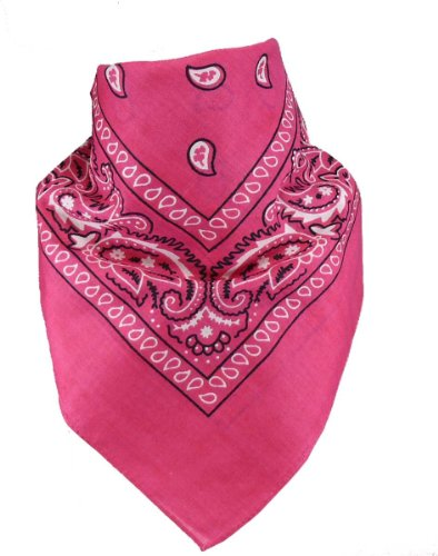 Harrys-Collection Unisex Bandana Bindetuch 100% Baumwolle (1 er 6 er oder 12 er Pack), Farbe:pink