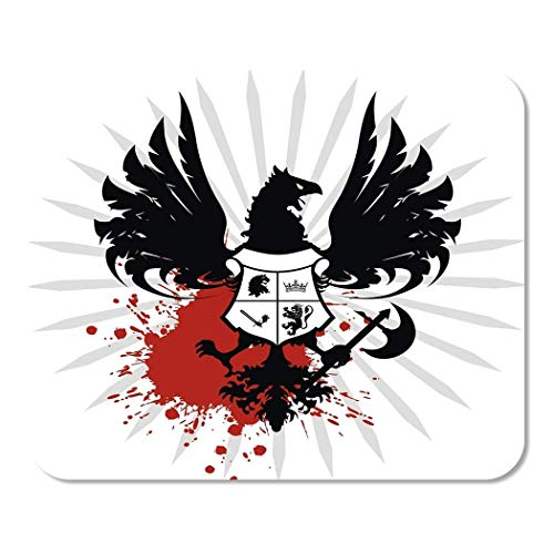 Mousepad Computer Notepad Office Tattoo Heraldic of Arms in der sehr abstrakten Axt Black Home School Game Player Computer Worker
