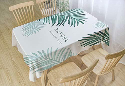 Chickwin Manteles Antimanchas Poliéster, Mantel para Mesa Rectangular de Cocina Mantel Antimanchas Transpirable,Restaurante Cocina (80x120cm,Natural)