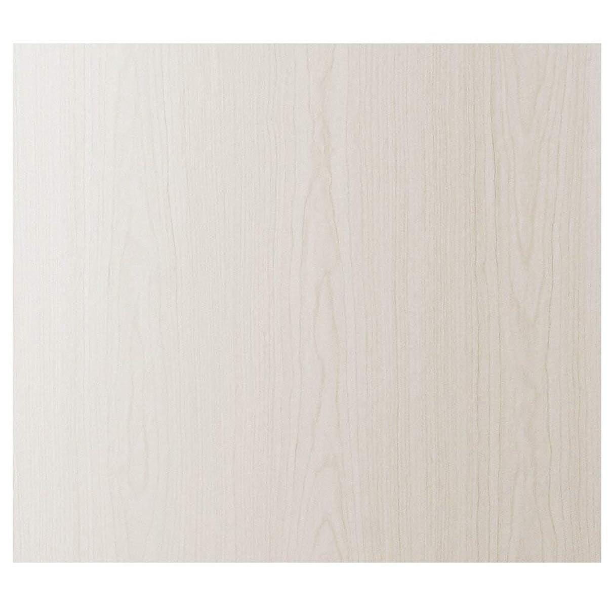 なかなか彼女年ケイ?ララ 壁紙 木目 シール [ホワイトオーク] 幅61cm×10cm単位 はがせる 壁紙シール ウォールステッカー リメイクシート y3