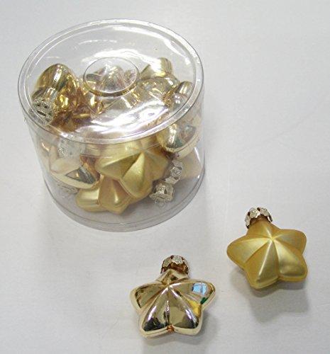 Décoration de Noël sapin de Noël étoiles en verre Doré Ø : 60 mm, lot de 12 pièces, Mélange brillant et mat