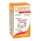 HealthAid Children's MultiVitamin + Minerals - 30 Vegetarian Tablets