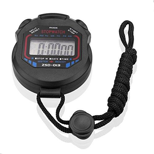 SIENOC Sport Cronometro digitale LCD portatile del cronografo Contatore timer Cronometro Allarme