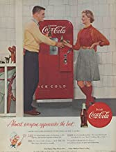 Almost everyone appreciates the best Coca-Cola ad 1955 couple vending machine C