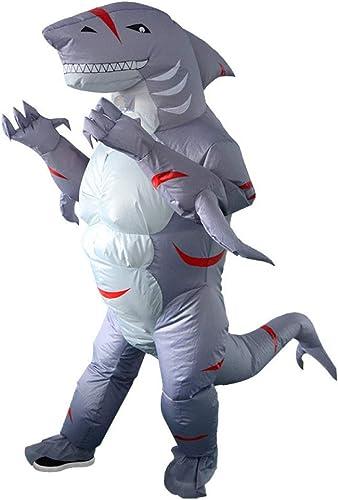 muchas concesiones Disfraz De Tiburón Inflable Inflable Inflable Para Adultos Disfraz De Mascarada Cosplay Traje Inflable Para La Fiesta De Navidad De Halloween,Adult(150-190cm)  artículos novedosos