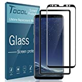 TOCOL for Samsung Galaxy S8 Plus Screen Protector, Tempered Glass 3D Curved Full Coverage (Easy Installation Tray) (not for Galaxy S8)