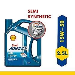 Shell Advance AX7 15W-50 API SM Semi Synthetic Engine Oil (2.5 L),Shell India Market Pvt. Ltd