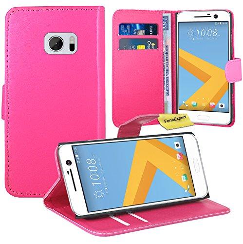 FoneExpert® HTC One M10 / HTC 10 Handy Tasche, Wallet Hülle Flip Cover Hüllen Etui Ledertasche Lederhülle Premium Schutzhülle für HTC One M10 / HTC 10
