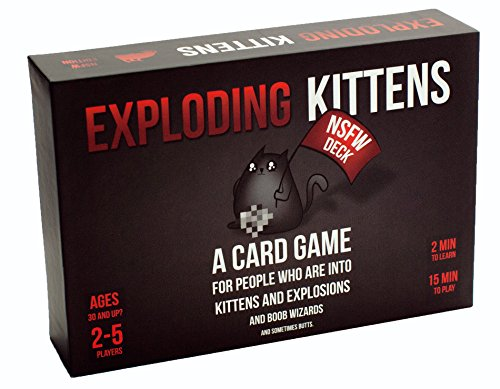 Exploding Kittens Card Game - NSFW (Explicit) Edition - Party Games - Card Games for Adults