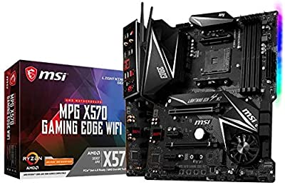 MSI MPG X570 Gaming Edge WiFi Motherboard (AMD AM4, DDR4, PCIe 4.0, SATA 6Gb/s, M.2, USB 3.2 Gen 2, AC Wi-Fi 5, HDMI, ATX) (Renewed)