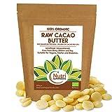 Manteca de Cacao Bio Cruda en gotas - Obleas / Botones - Sin refinar y sin endulzar - 500g