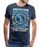 Ne Vous Frottez Pas Aux Plongeurs T-Shirt Premium Homme, L, Bleu Marine