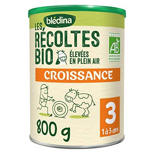 Blédina Les Récoltes Bio 3, Lait en poudre Bio pour bébé, 12,36 Mois, 800g (Boîtex1)