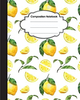 Composition Notebook: Freshy Orange and Lemon : College Ruled School Notebooks, Subject Daily Journal Notebook : 120 Lined Pages (8 x 10 in.)